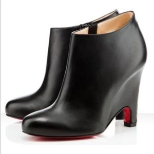 CHRISTIAN LOUBOUTIN Morphing Black Ankle Boots 6.5